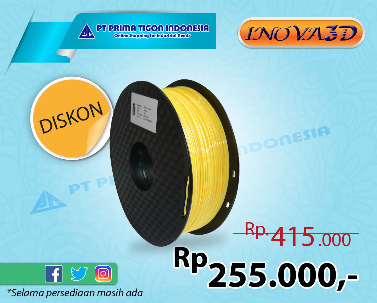 Filament Flexible(TPU) Yellow